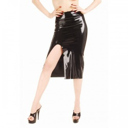 Kneelength latex skirt by Anita Berg AB4075AZ - ab4075