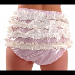 (X-Large) PVC AB Frilly Broekje  - pul-pa14