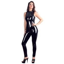 Mouwloze Lak Catsuit van Black Level - or-285064810