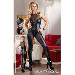 Catsuit Wetlook maten S > XL - or-2730030