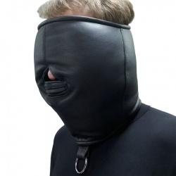 Lederen isolatie Masker - os-0374