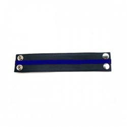 Lederen polsband Zwart & Blauw - rg-r wb1084bb