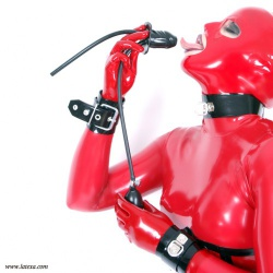 Latex Pump-Up Gag with Breathing Tube by Latexa - la-3197