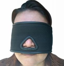 Blinddoek met neusuitsparing en klittebandsluiting - os-blvo