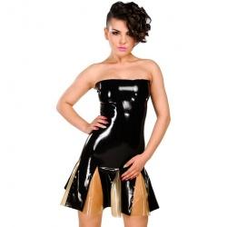 Latex strapless jurk met rits van Anita Berg AB4798Z - ab4798z