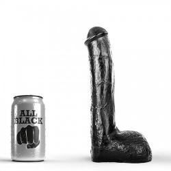 All Black - AB14 9 inch / 23 cm lange Josef dildo from Belgium - 115-ab14