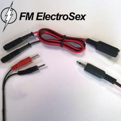 Electrosex verloopstekker 2,5mm female jack naar 2 mm stekkers - pb-25jf2
