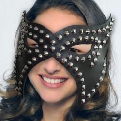 Lederen Blinddoek met klinknagels - os-0335