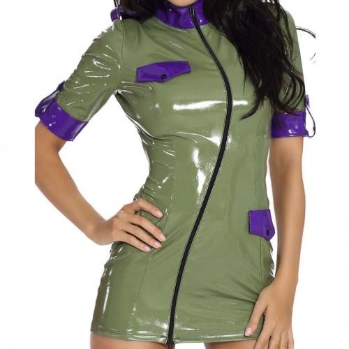Sexy Military Datex Minikleid - le-9226