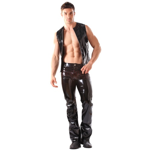 Vinyl Classic Boot Cut Jeans by Honour Clothing - hr-h1404
