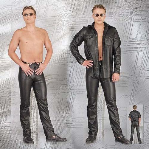 Lederhose im Jeansstile - le-992