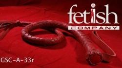 Zweep met flexibele greep (rood) van Fetish Company - ru-a33red