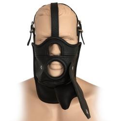 Saxos Lederen Masker met Uitneembare Knevel - os-0515