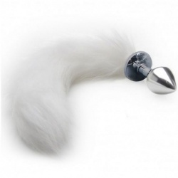 Metal Anal Plug Fox Tail Wit - bhs-276