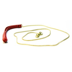 Saxos Golden Chain Leash - os-mi050