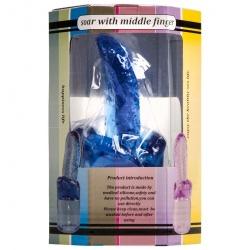 Wand Attachment - Tongue - 4cm Dia. (Blauw) - lg-518blu