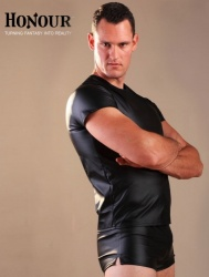 Leatherette Men's T-Shirt - hr-h1175-m