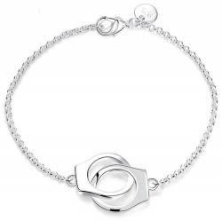 Verzilverde Handboeien Armband  - mae-cl-024
