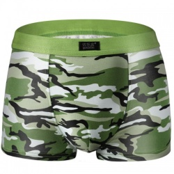 Boxer short in licht-groen camouflage print - mae-cl-075