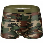 Boxer short in leger groen-camouflage print - mae-cl-077