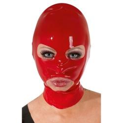 Rood Latex Masker met openingen - or-29200503001