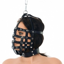 Riemen masker met ophangring aan bovenzijde - ri-7601