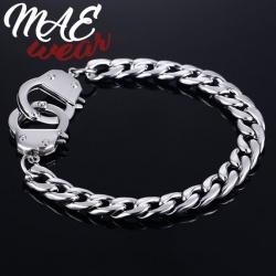 MAE-Wear Stainless Steel Handcuffs Bracelet - mae-cl-152