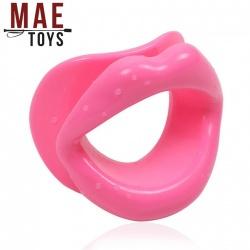 MAE-Toys Siliconen Open Mond Gag Roze - mae-sm-167p