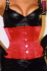 Plus-size Satijnen Taille Korset Blauw - et-ec002-satin-red-plus