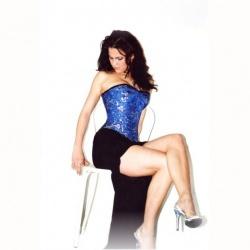 Blauw zijden drakenprint corset - et-ec007-draakseid-blu-plus