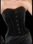 Nobles zwart Fluweel Corset - ET-EC007-SA/BL-PLUS
