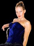 Nobles Blauw Fluweel Corset - ET-EC007-SA/KB-PLUS