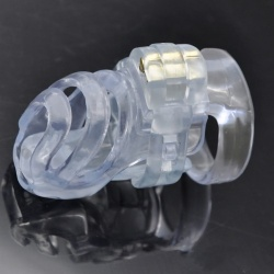 MAE-Toys Deluxe Chastity Device Clear - mae-sm-204