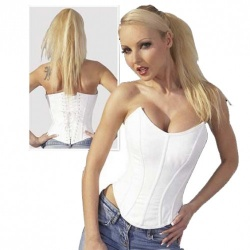 Cottelli Collection White Corset size XL - or-02414150000
