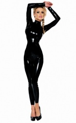 Latex Catsuit with 3-way zip byLedapol - le-4776