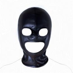 Imitatielederen Bondage Masker - mae-sm-047
