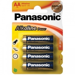 Panasonic AA Alkaline batteries (4 pack) - pan-aa