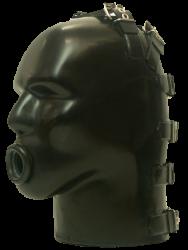 Latex Helm met opening voor Oppompbare Gag M4B-r - sg-m4b-r