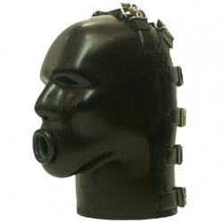 Latex Masker met O-ring Gag van Studio Gum - sg-m4c-r