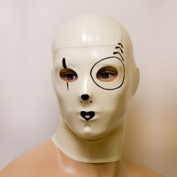Latex Maske 'Pierrot' - ft-02-08