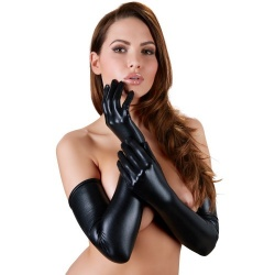 Long Wetlook Gloves - or-24601221101
