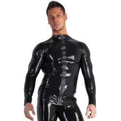 Latex Men's Longsleeve Shirt with Zipper by Late-X
