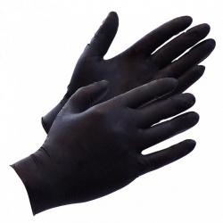 100 Zwarte Latex Wegwerp Handschoenen van Rimba - ri-7289