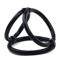 Rubber Tri-Ring Cock Cage by MAE-Toys - mae-ty-023