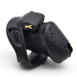 Zwarte ABS Luchtdoorlatende Kuisheidskooi van MAE-Toys - mae-sm-100blk