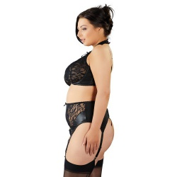 Plus Size Kanten Jarretel Lingerie Set van Cottelli Collection Plus - or-2212951