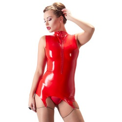 Rode Latex Torselet van LATE-X - or-2901218