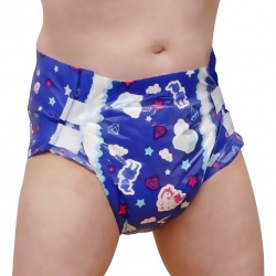 Diaper2Pack Set of 2 ABDL Diapers (Blue) - d2p-blu