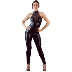 Wetlook en Kant Jumpsuit van Cottelli Collection - or-2730421