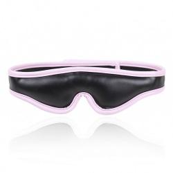 Zwart/Roze Imitatielederen Blinddoek van MAE-Toys - mae-sm-012blk/pnk